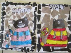 GS de St Martin de Belleville: Portraits de Splat Splat Le Chat, Ecole Art, Portraits, Lunch Box, Petite Section, Ms, Album, Art Deco, Paint