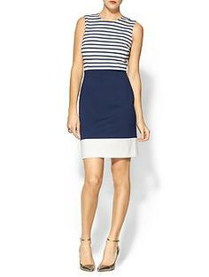 Kate Spade New York Sarita Dress | Piperlime Classis and navy is my go to staple color right now.