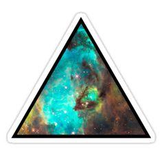 Green Galaxy Triangle by rapplatt
