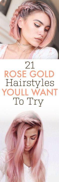 These are the best rose gold hairstyles that you need to try!