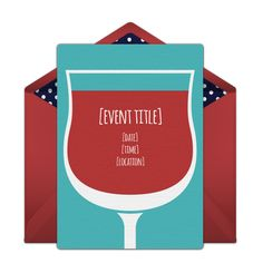 It's Wine Time. We love this free invitation template for a 30th birthday party, or a festive wine tasting.