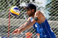 Italy's Daniele Lupo receives a ball