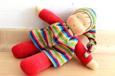Paula kleine Puppe nach Waldorf Art 20cm von JuniKate auf Etsy, $35,00