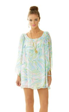 Lilly Pulitzer Marietta Caftan Dress in Skye Blue Salute
