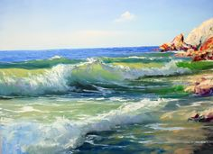 Igor Saharov - Painting Sea Ocean Waves Coastal Beach Artwork, Lessons Painting on You Tube