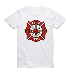 0a47f73568c Firefighter white T-shirt Short sleeve O-Neck Tag a friend who would love