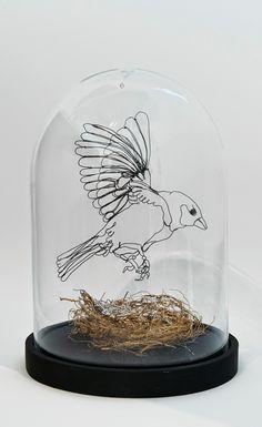 """Precious"" Sculptural Drawing By Christina James Nielsen"