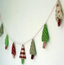 Homemade Christmas garland