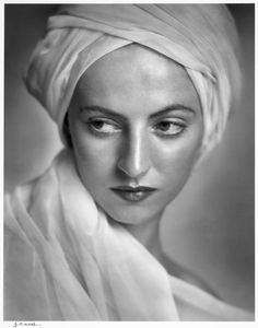 """Ballerina and actress Betty Low, photo by Yousuf Karsh. """"I improvised her turban from the window curtains, which I tore down and draped around her head and shoulders."""" -via sisterwolf Famous Portrait Photographers, Great Photographers, Harlem Renaissance, White Photography, Portrait Photography, Photography Magazine, Fashion Photography, Yousuf Karsh, Richard Avedon"""