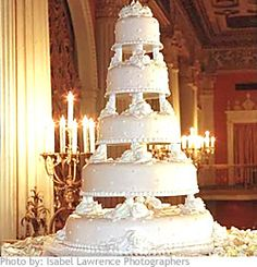 Don't like the spacing but I love the pearl dots on the cake. 5 Tier Wedding Cakes, Amazing Wedding Cakes, Elegant Wedding Cakes, Wedding Cake Designs, Tall Cakes, Dream Cake, Occasion Cakes, Fancy Cakes, Tiered Cakes