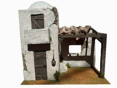 pesebre Model Train Layouts, Merry Little Christmas, Model Trains, Nativity, Bookends, Diy And Crafts, Building, Mini Houses, Collar