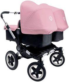 Bugaboo Donkey Complete Twin Stroller - Off White - Twin Black Base Twin Strollers, Double Strollers, Twin Pram, Bugaboo Donkey, Prams And Pushchairs, Newborn Twins, Baby Twins, Twin Boys, Fantastic Baby