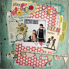Cute scrapbook page