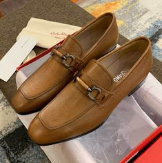 Ferragamo Calfskin Loafer Shoes Loafer Shoes, Men's Shoes, Loafers, Buy Mens Shoes, Cute Love Images, Salvatore Ferragamo, Stuff To Buy, Fashion, Zapatos