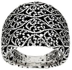 Or Paz Sterling Silver Tapered Lace Ring