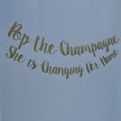 "She said, ""Yes"", so pop a bottle of bubbly and let the party begin! This banner is perfect for a bachelorette party or engagement party and comes in a variety c"