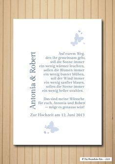 Druck/Wandbild/Print: Segenswunsch (Hochzeit)