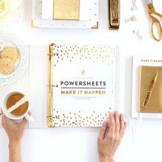 Make It Happen PowerSheets // One-Year Set