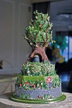 Coolest cake evar. Ill probably never be able to make something this wonderful, but its nice to dream!