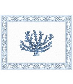 Blue #Coral Laminated #Placemats