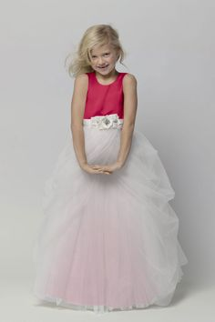 Shop Seahorse Flower Girl Dress - 44374 in Tulle at Weddington Way. Find the perfect made-to-order flower girl dress for the little girl in your wedding. Bridesmaid Dresses 2014, Wedding Party Dresses, Bridal Dresses, Bridesmaids, Tulle Flower Girl, Flower Girl Dresses, Flower Girls, Little Girl Dresses, Party Fashion