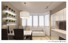Дизайн-проект кухни с эркером 15,9 кв.м. в доме п44т/25 - Форум Мортонград Путилково