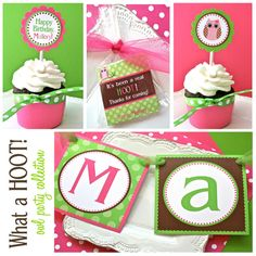 Owl Birthday Party Theme... Lori P., this is for you! :)