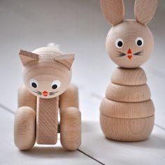Handmade Wooden Cat - £12.00