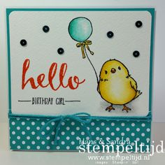 Love this little one! - Honeycomb Happiness Stamp Set and Hello Stamp Set - SAB 2016 - Stampin' Up!