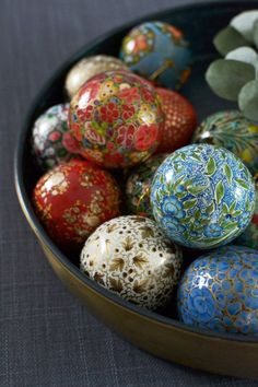 Hand-painted baubles