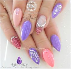 GEL/ACRYLIC NAILS.........Luminous Nails and Beauty!   CHECK OUT (DAILY BLACK BEAUTY EXCLUSIVES) ON FACEBOOK FOR MORE