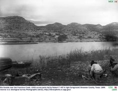 From Traces of Texas. Rio Grande river somewhere near present day Big Bend National Park, Texas. It is part of a series of photographs of the area taken for a United States Geological Survey by Robert T. Truth Or Consequences, United States Geological Survey, Rio Grande, Find Picture, Old Pictures, New Mexico, Great Places, Texas, America