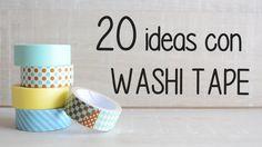 56 Decor ideas with washi tape Diy Washi Tape Storage, Washi Tape Wall, Mt Masking Tape, Washi Tape Cards, Washi Tapes, Ideas Paso A Paso, Paper Pin, Mini Candles, Diy Ideas
