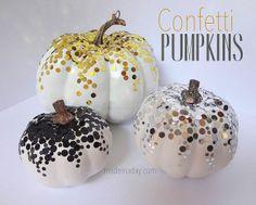 DIY Confetti Pumpkins!