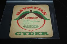 1963 Beermat Gaymers Cyder Cider Cat 027 (2N91) 11/14)