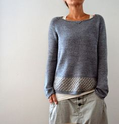 Knitting instructions Llevant by Isabell Kraemer - crochet patterns Sweater Knitting Patterns, Knit Patterns, Knitting Stitches, Knitting Sweaters, Knitting Needles, Dress Gloves, Pulls, Knitting Projects, Knitting Ideas