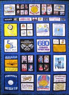 T-Shirt Quilt design by Waunell Michels