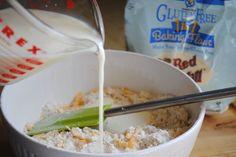 Easy gluten free garlic cheddar drop biscuits