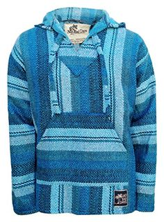 Baja Hoodie Mexican Poncho Pullover - Turquoise Shades Herringbone (Small) No Bad Days http://www.amazon.com/dp/B00OF58418/ref=cm_sw_r_pi_dp_FNJyub1CP1EE0