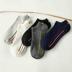 >> Click to Buy << HSS Breathable cotton Men's socks deodorant wicking socks Vertical stripe personality boys boat socks #Affiliate