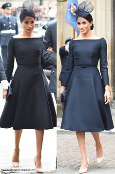 Mad About Meghan: The Duke and Duchess of Sussex Mark RAF Centenary Elegant Dresses Classy, Classy Dress, Beautiful Dresses, Jean Dress Outfits, Lady Diana, Cotton Dresses Online, Elizabeth Ii, Style Royal, Prince Harry And Megan