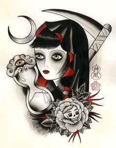 Image of Lady Evil - Sara Purr - print