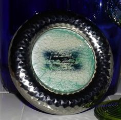Seattle Seahawks Inspired Hand Painted Glass by GlassByPriscilla