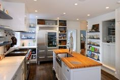 Shelves Around The Refrigerator Design Ideas, Pictures, Remodel and Decor