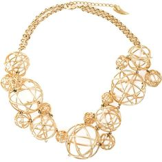 Eshvi 'Astro' necklace (1,534 CAD) ❤ liked on Polyvore featuring jewelry, necklaces, metallic, collar necklace, collar jewelry, metallic jewelry and eshvi jewelry