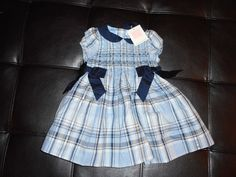 d3a4b0ae1 NWT Janie And Jack Blue Plaid Dress Bloomers Smocked Bodice 6 to 12 months