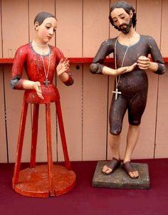 ANTIGUAS TALLAS JOSE Y MARIA DE VESTIR Vintage Mannequin, Vintage Dolls, Religious Icons, Religious Art, Pinocchio, Baroque, Night At The Museum, Small Sculptures, Catholic Art