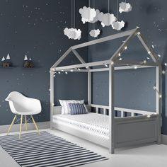 Kid's room in grey with single bed by Grey is a great colour for creating a beautiful, restful bedroom. Browse our favourite grey bedroom design ideas to inspire your scheme Baby Bedroom, Baby Boy Rooms, Baby Room Decor, Girls Bedroom, Bedroom Decor, Bedroom Ideas, Wood Bedroom, Grey Bedrooms, Bedroom For Kids