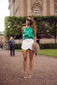 Kenza Ivy Revel green top