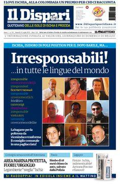 La copertina del 31 luglio 2015 #ischia #ildispari
